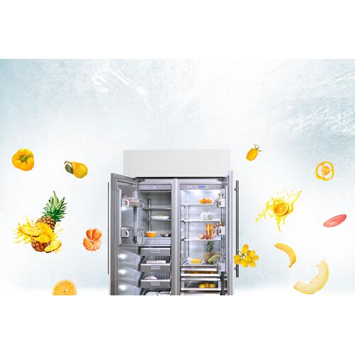 Integrated (Width: 36in, Configures: 1 Door + 2 Bottom Drawers + 2 Separate Temperatures (0h), Functions: Fridge + Freezer, Finish: Integrated Solid, Opening: Left, Icemaker: Yes)