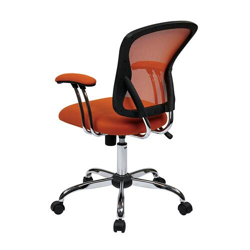 Juliana Task Chair In Orange Mesh