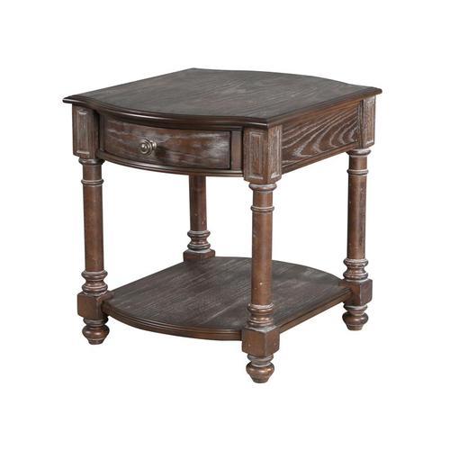 Magnussen Home - Rectangular End Table (wood top)
