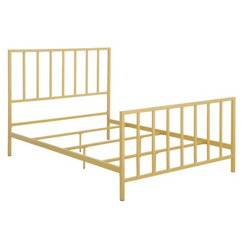 Metallic Gold Slat Full Metal Bed