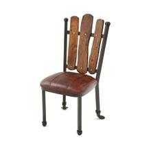Steel Traditions - Scottsdale Side Chair With Leather Seat