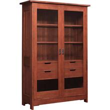 Oak Mission Display Cabinet