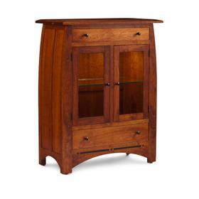 Aspen 2-Door Dining Cabinet, 2 Doors with Wood Doors and Ends