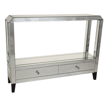 Montreal Mirrored Console Table w/Drawers