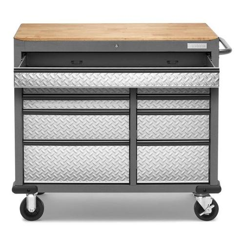 Gladiator - Premier 41 inch 9-drawer Mobile Tool Workbench with Solid Wood Top