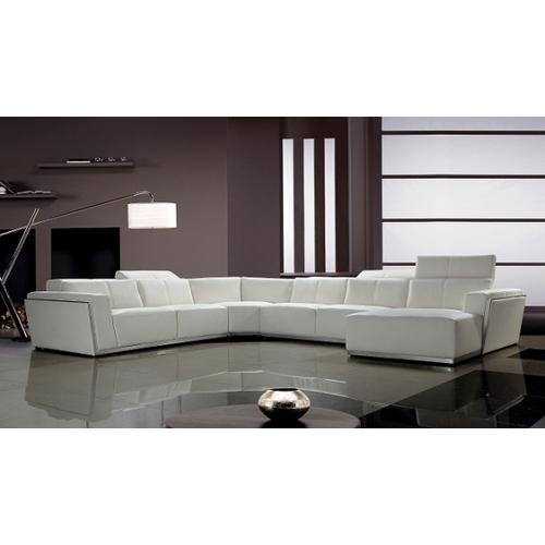 Divani Casa Tempo - Contemporary Leather Sectional Sofa