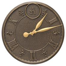 "Monogram 16"" Indoor Outdoor Wall Clock"