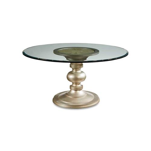 "Morrissey Wallen Round Dining Table with 60"" Glass Top"