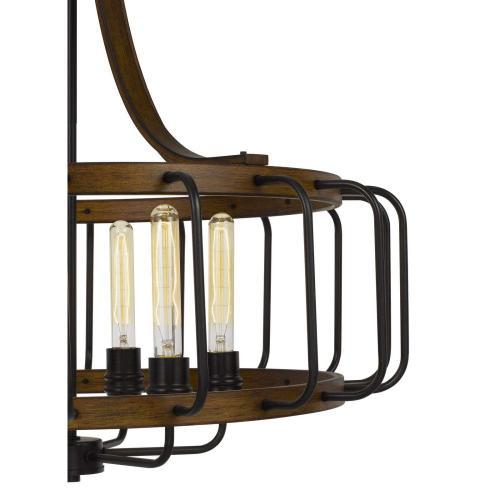 Kellia 60W X 6 Metal Chandelier (Edison Bulbs Not included)