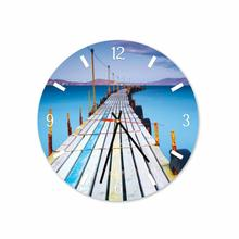 Bridge Bali Beach Round Square Acrylic Wall Clock