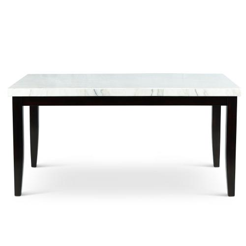 Westby White Marble Top DiningTable