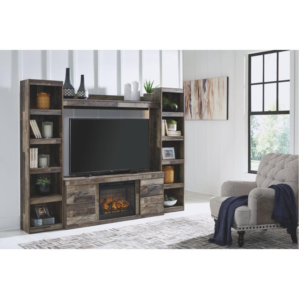 Derekson 4-piece Entertainment Center With Electric Fireplace