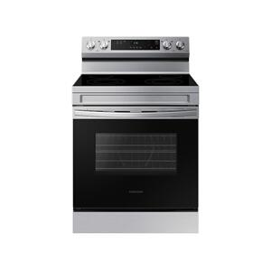 6.3 cu. ft. Smart Freestanding Electric Range with Steam Clean in Stainless Steel Product Image