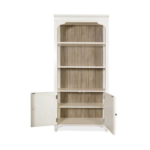 Riverside - Myra - Bunching Bookcase - Natural/paperwhite Finish