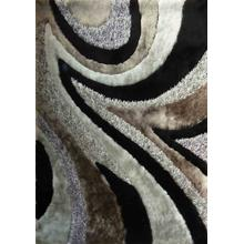 Designer Shag S.V.D. 26 Area Rug by Rug Factory Plus - 2' x 3' / Gray Black