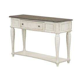 Stevenson Manor Console Table, Distressed White
