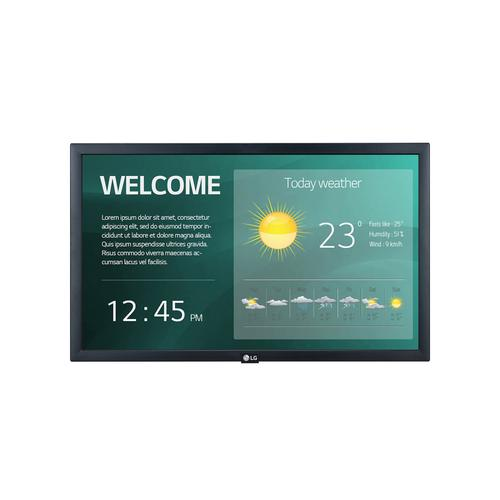 """LG - 22"""" SM3G-B Series IPS FHD LED Back-lit Digital Display with Embedded CMS, Quad Core SoC with webOS™ 4.0, Smart Signage Platform, & Built-in WiFi"""