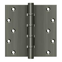 "6"" x 6"" Square Hinges, Ball Bearings - Antique Nickel"