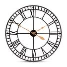 Baxton Studio Janette Classic Contemporary Black and Gold Finished Metal Wall Clock Product Image