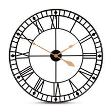 See Details - Baxton Studio Janette Classic Contemporary Black and Gold Finished Metal Wall Clock