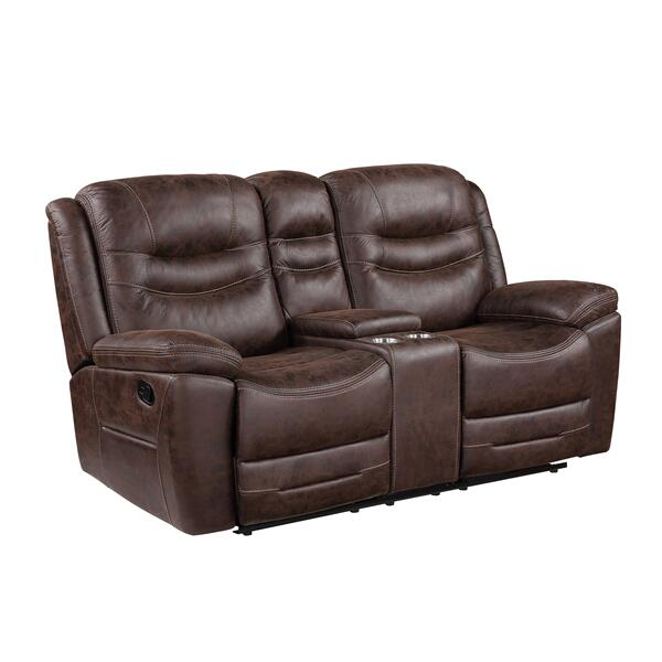See Details - Stetson Manual Reclining Console Loveseat