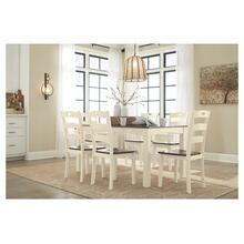 Woodanville 7 Pc. Dining Room Table Set Cream/Brown