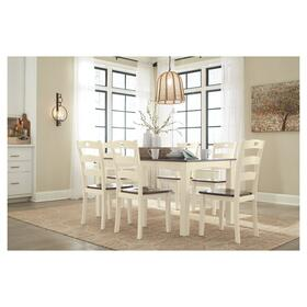 Woodanville Table & 6 Chairs Cream/Brown
