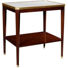 See Details - Austell Side Table With White Onyx Stone Top