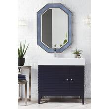 "Linear 36"" Single Bathroom Vanity, Victory Blue"
