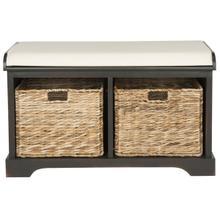 See Details - Freddy Wicker Storage Bench - Brown