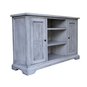 Plasma Stand, Available in Distressed White or Distressed Grey Finish.