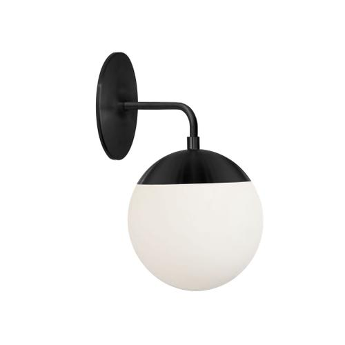 Product Image - 1lt Wall Sconce, Mb W/ Wh Glass