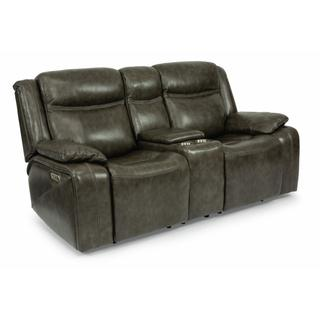 See Details - Journey Power Reclining Loveseat with Console and Power Headrests