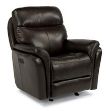 HARKNESS EXCLUSIVE! Leather Power Rocking Recliner with Power Headrest