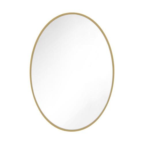 Kit Oval Mirror Burnished Brass