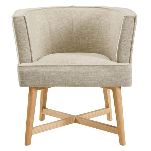 Modway - Anders Accent Chair Upholstered Fabric Set of 2 in Beige