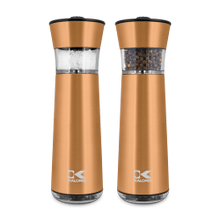 Product Image - Kalorik Electric Gravity-Activated Salt and Pepper Mills, Copper