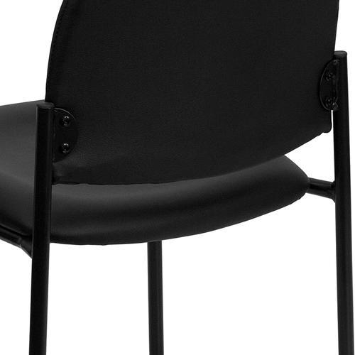 Gallery - Comfort Black Vinyl Stackable Steel Side Reception Chair