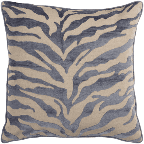 "Velvet Zebra JS-032 18"" x 18"" Pillow Shell with Polyester Insert"