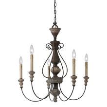 5 Ltg Williams Metal Chandelier
