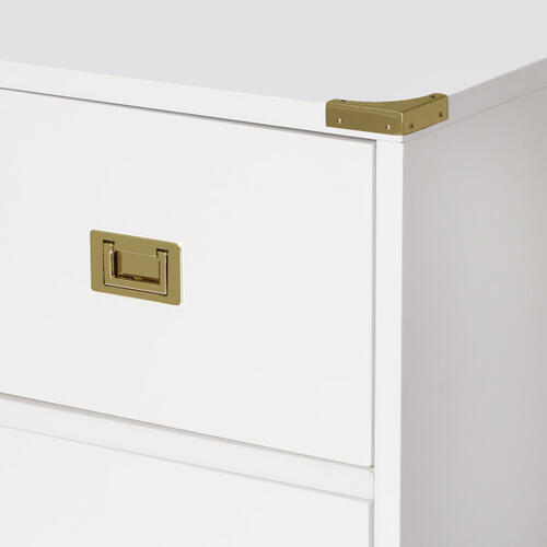 Glam Campaign 6 Drawer Dresser (Carton 1 of 2)