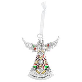 Angel Ornament - A nurse is an angel of Earth