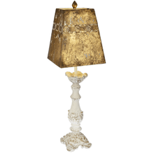 Carved Pillar Table Lamp. 60W Max.