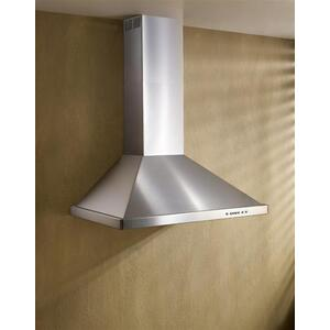 "42"" Brushed Stainless Steel Wall Mount Chimney Hood with Internal 400 Max CFM Blower"