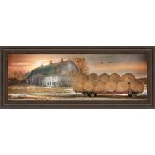 """Sunset On The Farm"" By Lori Dieter Framed Print Wall Art"
