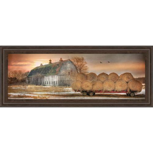 "Classy Art - ""Sunset On The Farm"" By Lori Dieter Framed Print Wall Art"