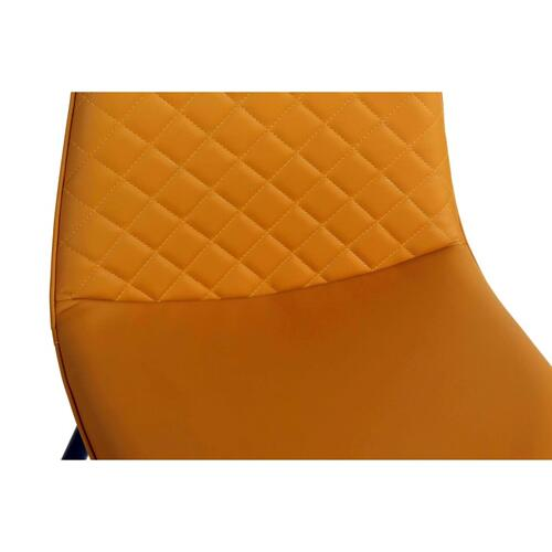 Adel KD PU Chair Black Legs, Saffron