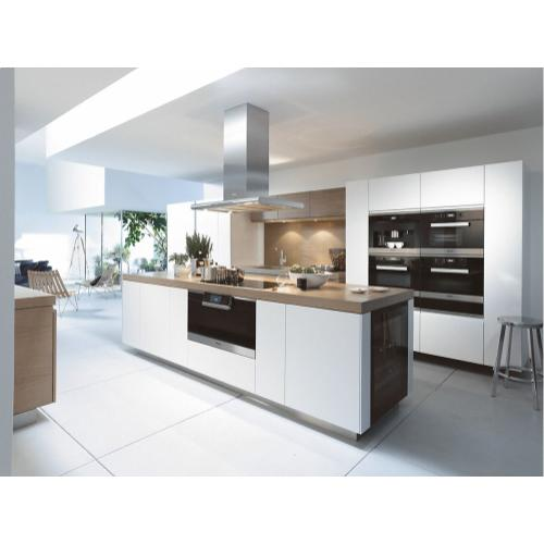 DA 6296 D Lumen AM Island décor hood with energy-efficient LED lighting and backlit controls for easy use.