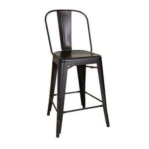 Liberty Furniture Industries - Bow Back Counter Chair - Black (RTA)