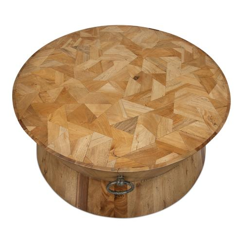 Round Tower Coffee Table,Driftwood